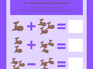 Annie aardvark math game worksheet.png