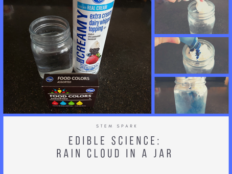 Edible Science: Rain Cloud in a Jar