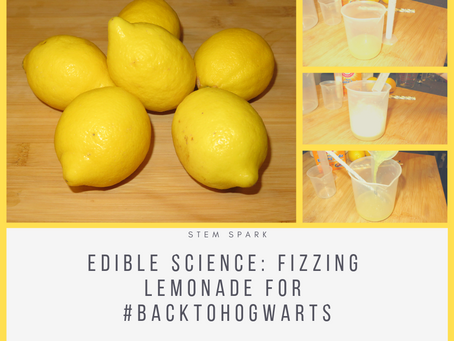 Edible Science: Fizzing Lemonade for #BackToHogwarts Day