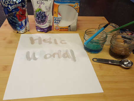 Science Experiment: Invisible Ink for #BackToHogwarts Day
