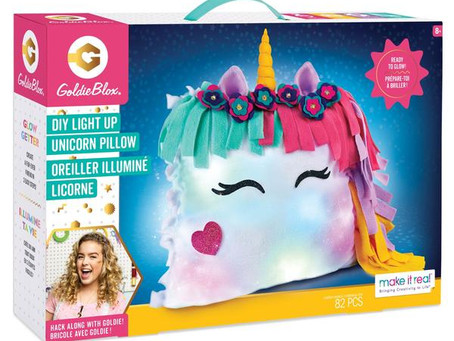 STEM Product Review: Goldieblox DIY Glowing Unicorn Pillow Plus Giveaway!