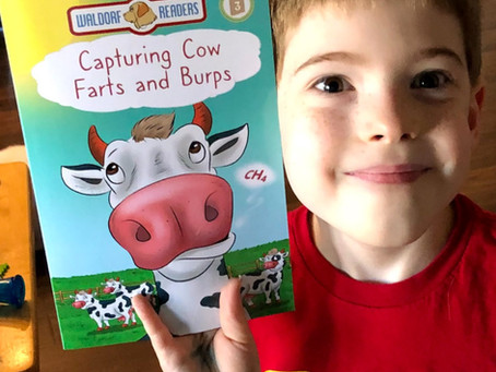 STEM Product Review: Capture Cow Farts and Burps (Book) Plus #Giveaway
