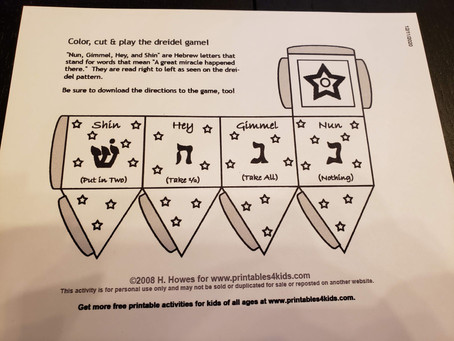 STEAM Activity: Paper Dreidel