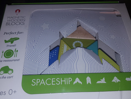 STEM Product Review: Tegu Travel Pals Spaceship Plus #Giveaway