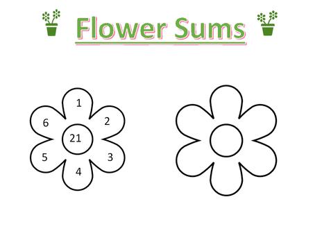 Flower Sums Worksheet