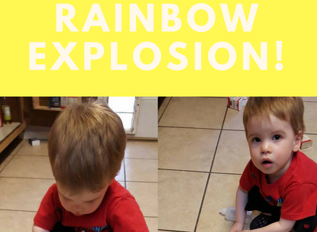 Science Experiment: Rainbow Explosion