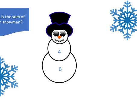 Snowman Sums Worksheet
