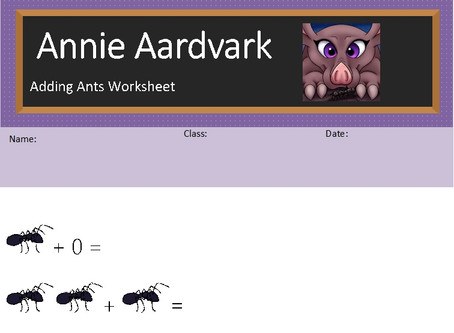 Annie Aardvark: Adding Ants Worksheet