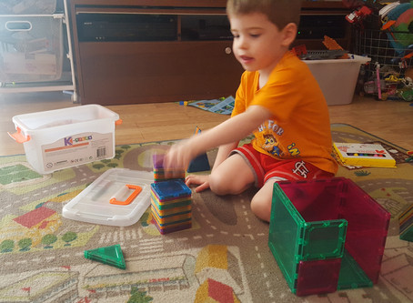STEM Product Review: Magnetic Building Block Set and #Giveaway!