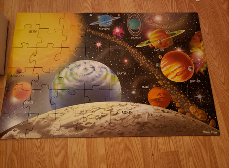 STEM Product Review: Melissa and Doug Solar System Floor Puzzle Plus #Giveaway