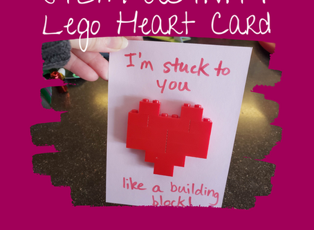 STEAM Activity: Lego Heart Card
