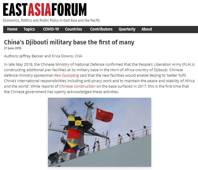 China's naval base in Djibouti