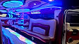 Gdansk White Hummer H2 stretch limo interior 3