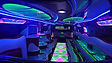 Gdansk White Hummer H2 stretch limo interior 1