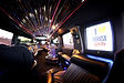 Black Hummer H2 stretch limo interior 2