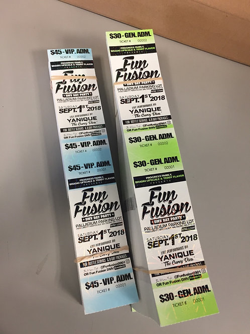 THERMAL PRINT EVENT TICKETS