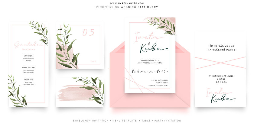 Pink Wedding Graphic Package