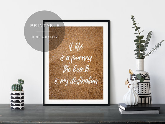 Beach Journey Printable Wall Art