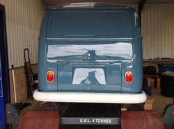 Rear bumper & lights fitted