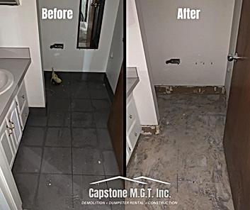 Before _ After flooring demolition job a