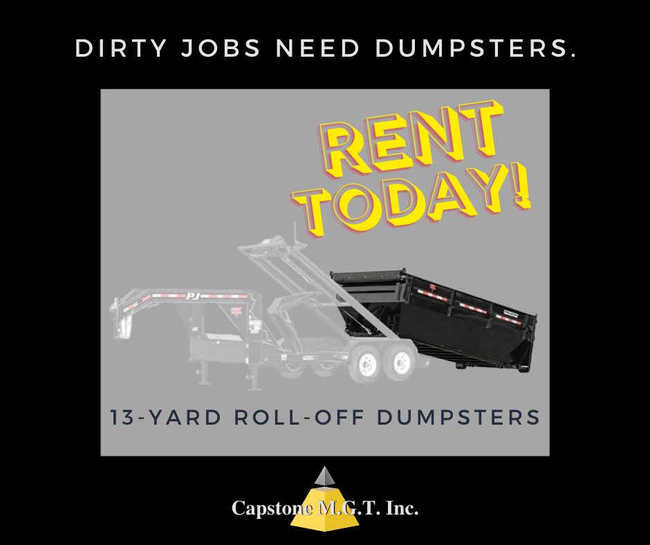 DIRTY JOBS NEED DUMPSTERS