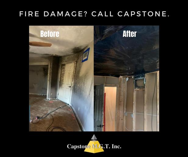 FIRE DAMAGE? CALL CAPSTONE.