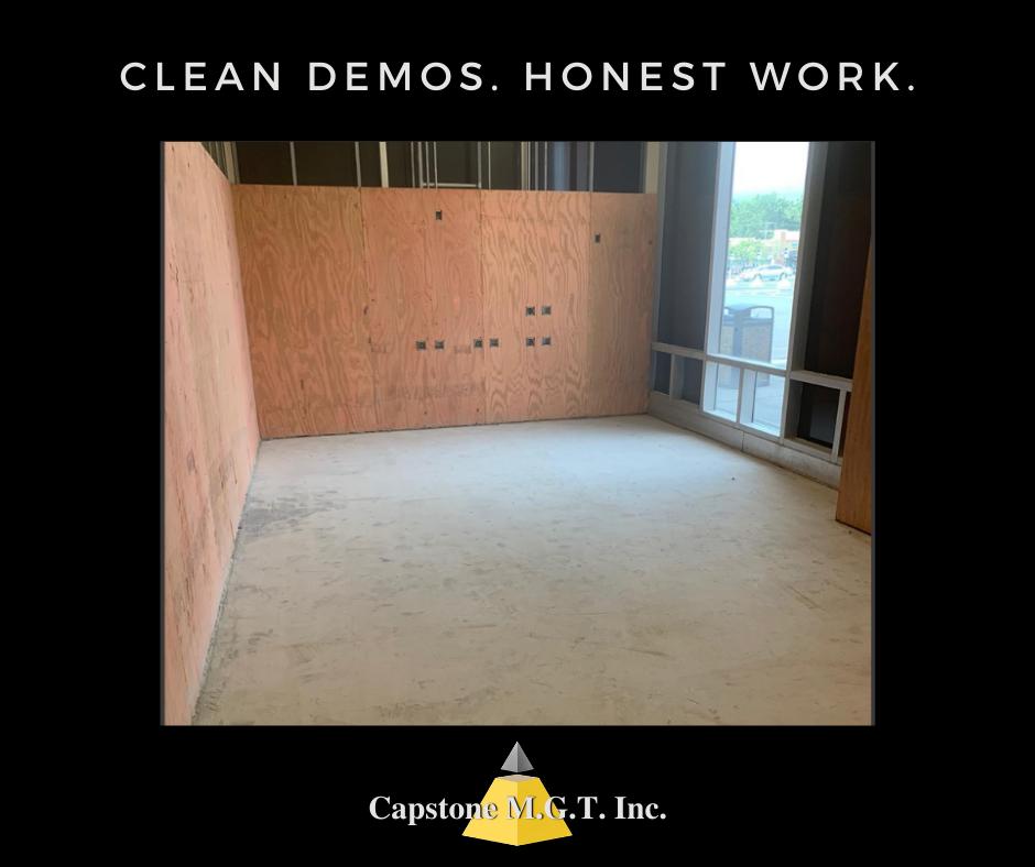 CLEAN DEMOS. HONEST WORK.