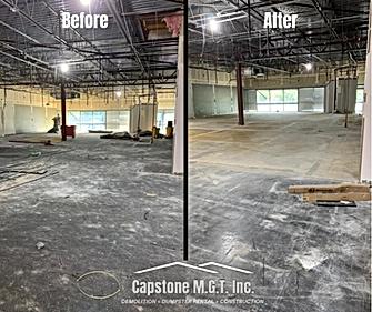 _More flooring before _ after at Med Fli