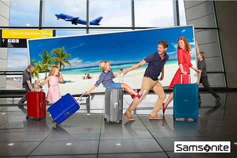 Samsonite optic holiday suitcase family