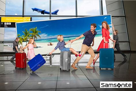 Samsonite optic holiday suitcase family