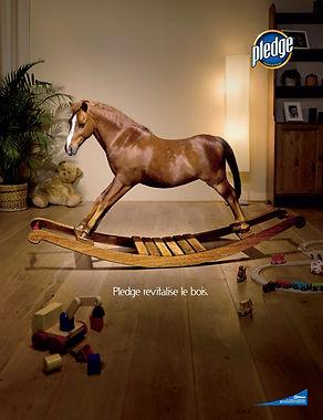 Pledge paard reclame