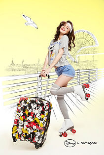 Samsonite Disney Mickey advertising