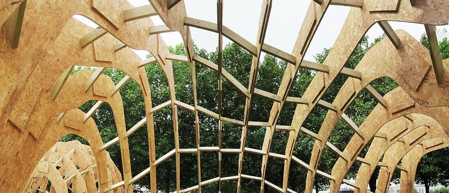 Experimental timber pavilion