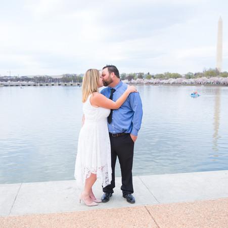Cherry Blossom Wedding at Jefferson Memorial