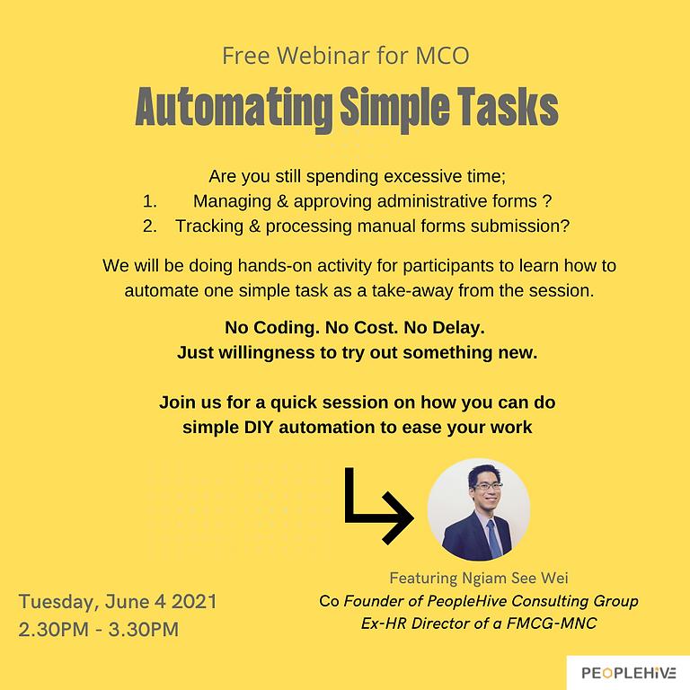 [Webinar] Automating Simple Tasks version FMCO3.0