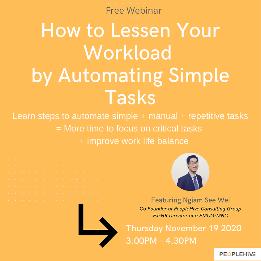 [Workshop Webinar] How to Lessen Your Workload By Automating Simple Tasks (2)