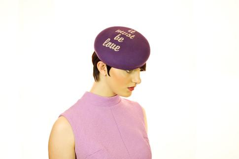 It Must Be Love purple felt beret