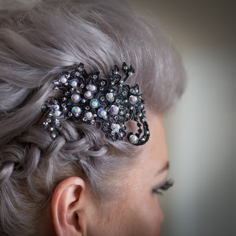 Lace and Pearl Headpiece