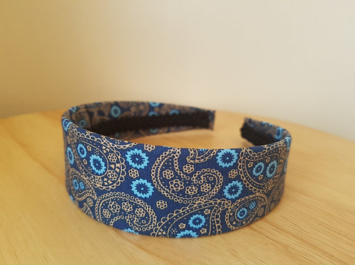 Royal Blue Paisley Pattern Hairband