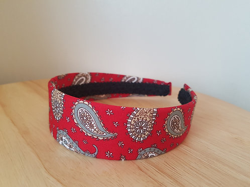 Red Paisley Pattern Hairband