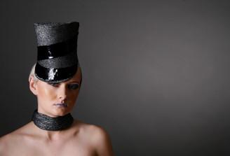 Silver Lurex Soldier Hat