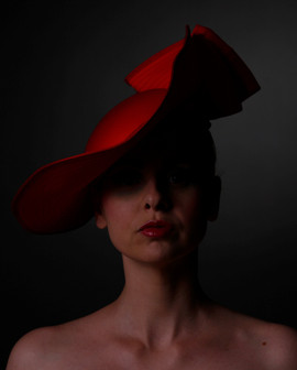 Red Satin Hat