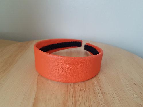 Orange Leather Hairband