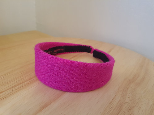 Bubblegum Pink Harris Tweed Hairband