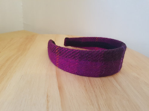 Pink/ Purple/Orange Harris Tweed Hairband