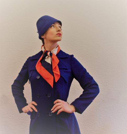 Royal Blue felt hat