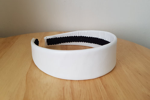 White Leather Hairband