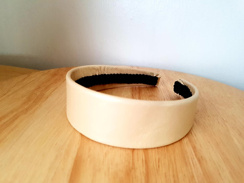 Light Caramel Leather Hairband