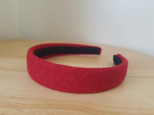 Red Harris Tweed Hairband