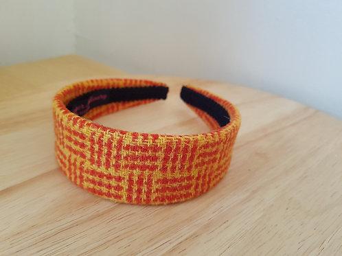Orange/ Yellow Harris Tweed Hairband
